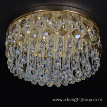 chrome light decorative led crystal ceiling chandelier