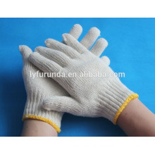 The top quality white cotton knitted working gloves factory