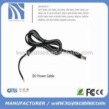 Cable de alimentación de CC de cobre negro (1,5 m, con toma de 2,1 / 5,5)