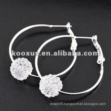Evelyn&Jen's hoop shamballa earrings