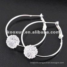 Evelyn&Jen's hoop shamballa earrings