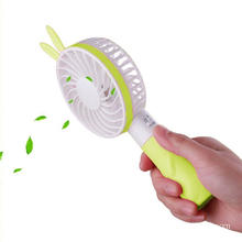 Batterij Oplaadbare draagbare USB Rabbit Mini Handheld Fan