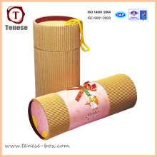 Caja simple de embalaje de cartón cilíndrico para regalo