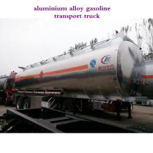 En aluminium alliage carburant transfert réservoir capacité réservoir Semi remorque à vendre