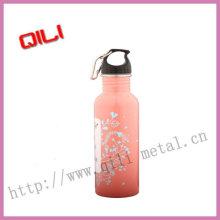 Прекрасный розовый цвет нержавеющая сталь бутылки воды
