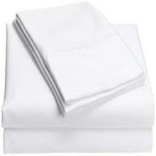 Hotsale Bleached polyester cotton white fabric
