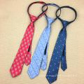 Skinny School Uniforms Adjustable Party Zipper Handmade Silk Tie