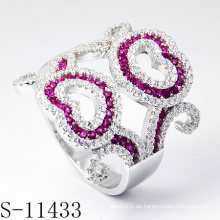 2015 neueste Schmuck verziert mit bunten Steinen Beliebte Ring (S-11433)