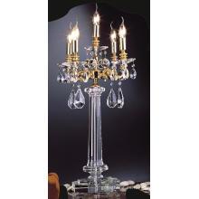 De alta calidad de diseño moderno decorativo vela lámpara de mesa de cristal (67004)