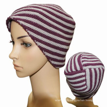 Lady Fashion Striped Wool Knitted Winter Warm Hat (YKY3101)