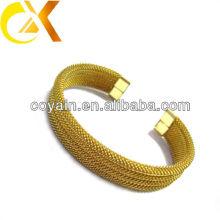 Pulseira de aço inoxidável de alta qualidade com chapeamento de ouro