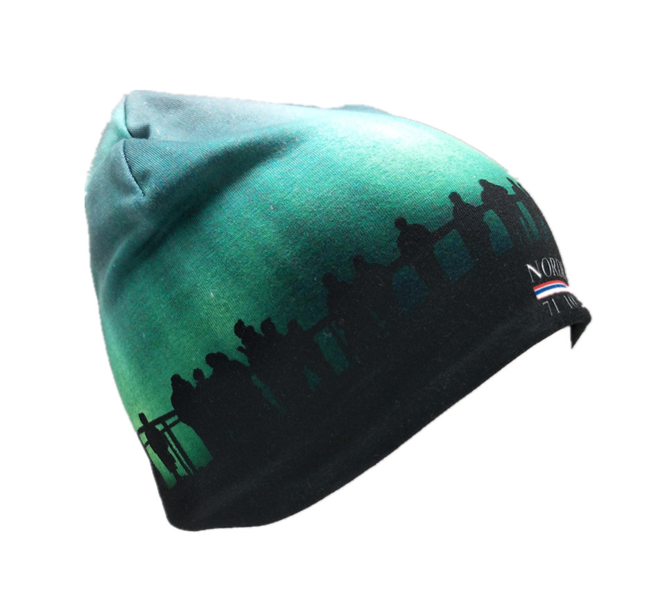 Fashion Custom Printed 100% Bomull Beanie Hat Winter Beanie