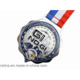 Custom Sport Running Marathon Metal Medal Medallion with Ribbon