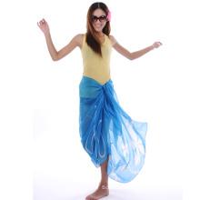 Blaue Farbe Polyester Sarong