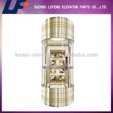 Mirror Stainless Steel Elevator/Hairline Stainless Steel Elevator For Sightseeing/Observation Elevator Manufacturer