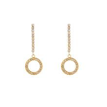 E-665 xuping simples boucles d'oreilles pendantes en strass avec strass design en acier inoxydable 24K