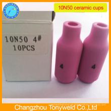 10N50 4 # Boquilla de cerámica para la antorcha de soldadura tig