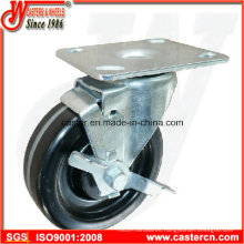 High Temperature Swivel Phenolic Caster with Side Brake