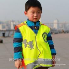 2015 Los niños más populares Chaleco de seguridad reflectante con norma EN20471 & CE, chaleco reflexivo, reflectante