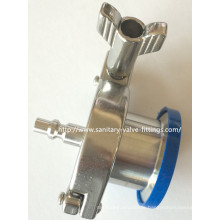 Sanitäres Edelstahl-Luftrückschlagventil Schnellverschluss-Stecker