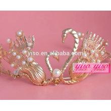 Accesorios coreanos del pelo cristal de la venda diadema hecha a mano de la joyería