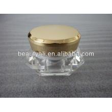 Frasco cosmético de diamante para el cuidado de la piel