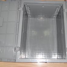 Recipiente apilable de plástico de alta calidad para almacenamiento