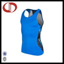 Custom Made Dry Fit Printed Sports Clothes Running Vest
