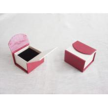 Impression de boîte de papier de cadeau de boîte de bijoux de boîte pliante adaptée aux besoins du client