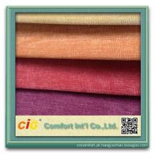 Tela 100% macia do veludo de algodão do vestuário de estofamento da ligação do poliéster T / C