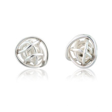 Pendientes de plata de la esfera de la esfera para el regalo de las mujeres