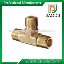 "Brass Pipe Fitting Male 1/2"" Tee"