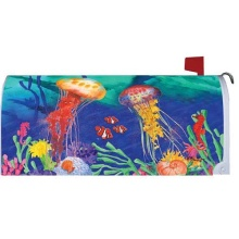Custom Outdoor JELLYFISH magnet Mailbox Cover