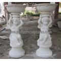 Carved Stone Flower Pot for Garden Sculpture (QFP323)