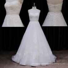 Vestido de boda del tren de barrido Bodycon de la salida de fábrica 2014 cordón