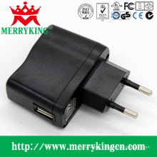 5V 1A 5W USB AC/DC Charger with EU Plug
