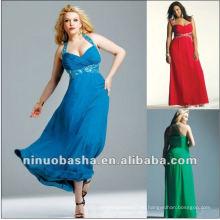 Бисером шифон вдохновленный вечернее платье Сара Рамирес 2012