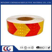 Ruban de sécurité réfléchissant rouge et jaune de flèche (C3500-AW)