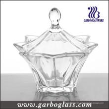 Botella de vidrio transparente para caramelos (GB1832BJX)