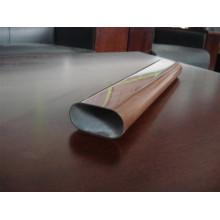 Tubo de acero con acabado de grano de madera para barandilla / valla de balcón