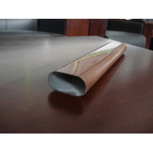 Tube en acier fini grain de bois pour balustrade de balcon / clôture