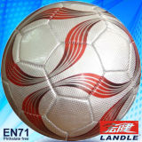 Machine Stitched synthetic soccer ball football PVC Leather Football