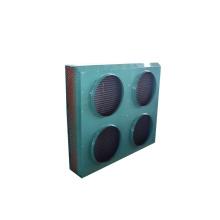 Condensador de refrigeración por aire con motores de cuatro ventiladores industriales