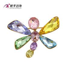 Xuping moda fantasia ródio-platinado cristais de broche swarovski de jóias dragonfly animal-dado forma jóias broche-x0421005
