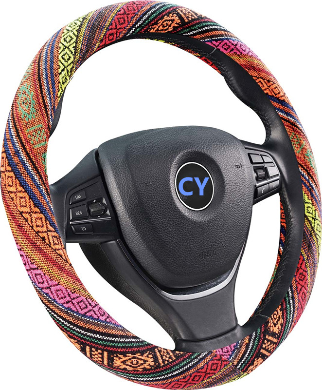 flax mesh steering wheel cover