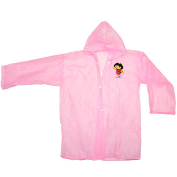 Pink Children's Pvc Raincoat