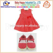 Alibaba China neue Mode Weihnachten Polka Dot Bogen Kleid