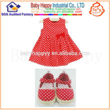 Alibaba China new fashion Christmas polka dot bow dress