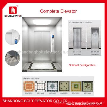 Gebrauchte Gebäudeaufzüge gebrauchte Wohnaufzüge zum Verkauf vertikaler Aufzug
