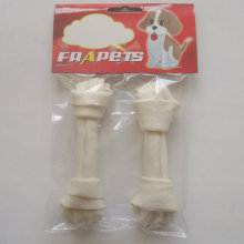 "Aliments pour chiens 5 ""-5,5"" White Bleached Knot Bone Dog Chew"